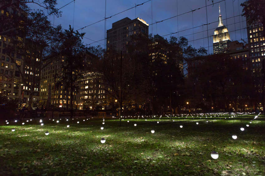new installation project of arts on view at madison square park new york