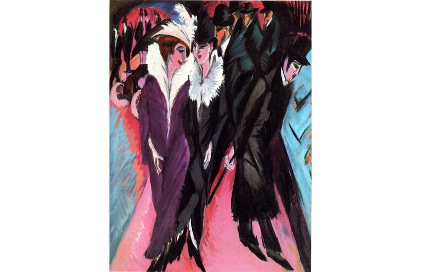 modern expressionism movement and works by ernst ludwig kirchner