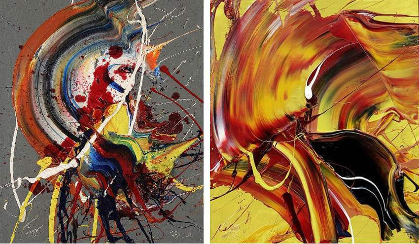 Work by Japanese artist Kazuo Shiraga