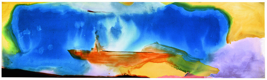 color blue in the art of Helen Frankenthaler