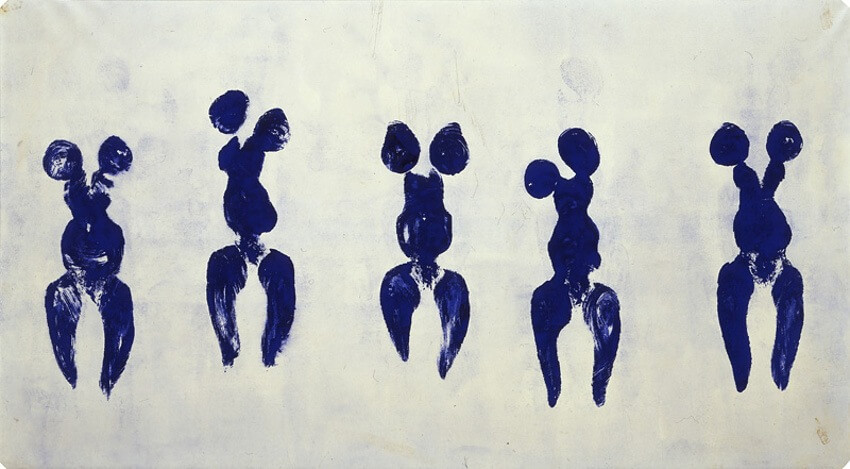 color blue in the art of Yves Klein