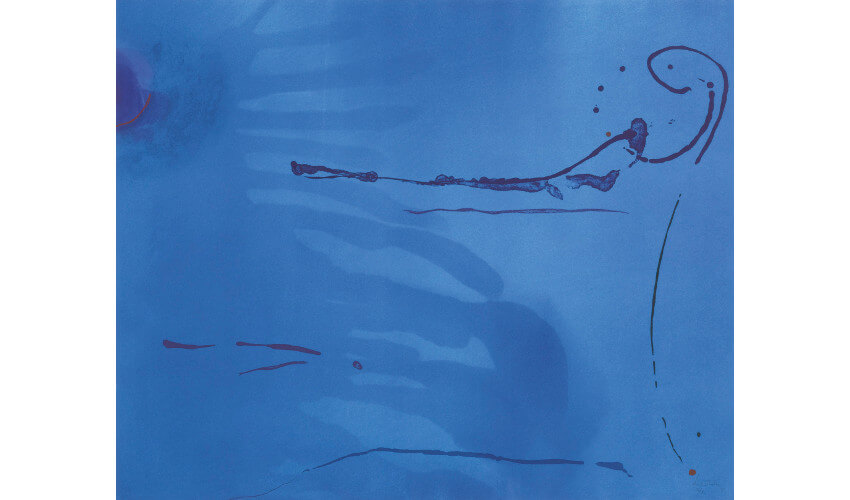 Helen Frankenthaler and color blue