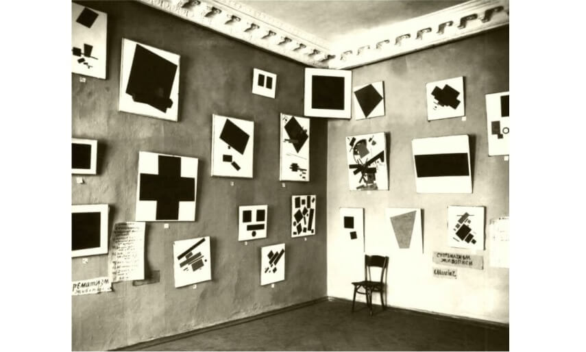 art by artist kazimir malevich and el lissitzky from russia