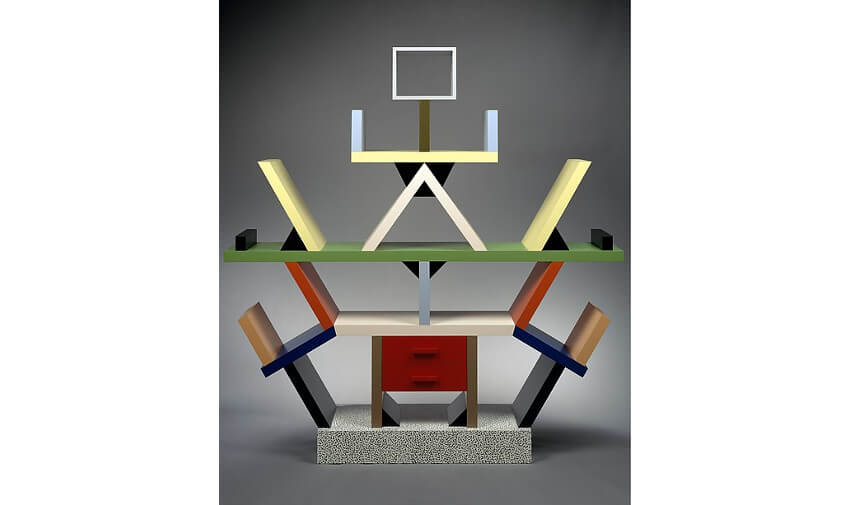 Ettore Sottsass collection of furniture designs studio view 1969
