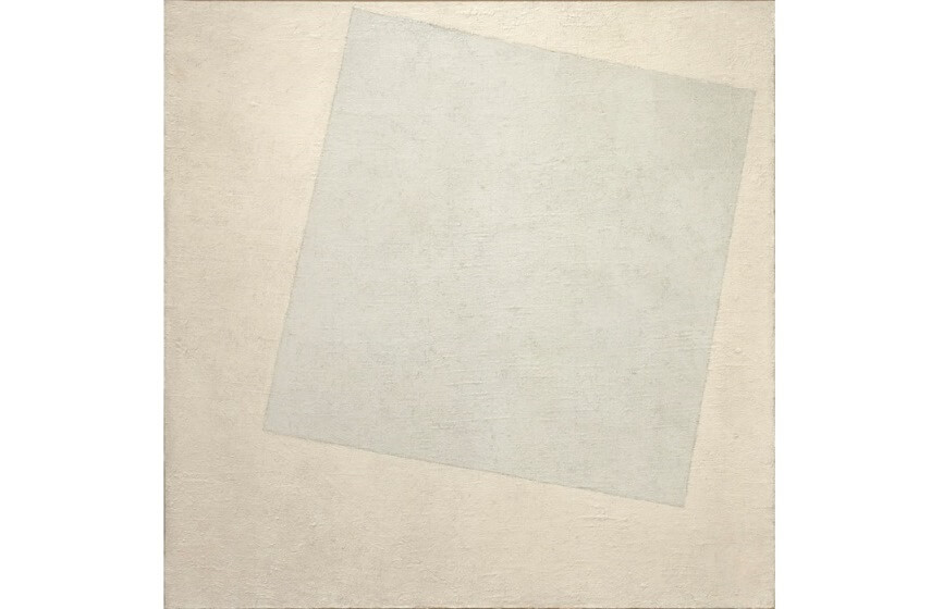 white on white art painting by kazimir malevich and black painting influenced el lissitzky artist from russia