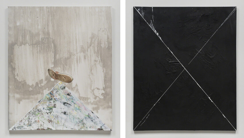 new collage works by Brenna Youngblood at Honor Fraser Gallery