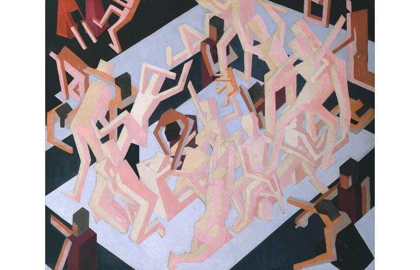 british artist david bomberg at tate modern gallery and museum in london