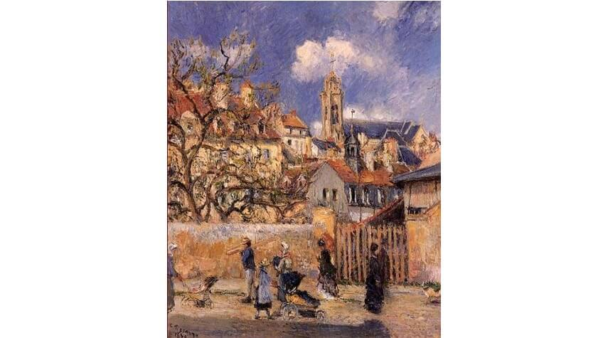 french school of impressionism camille pissarro born on the island of st. thomas