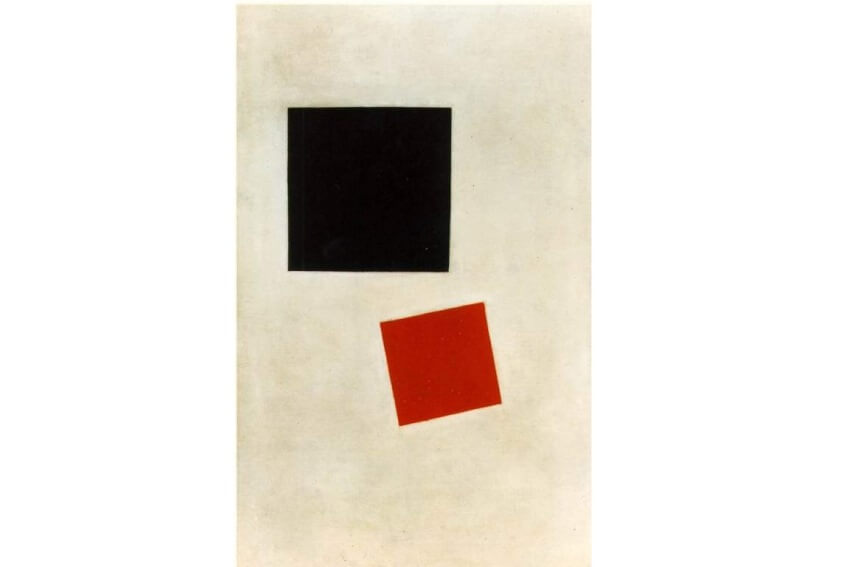 artist kazimir malevich Black Square and Red Square painting