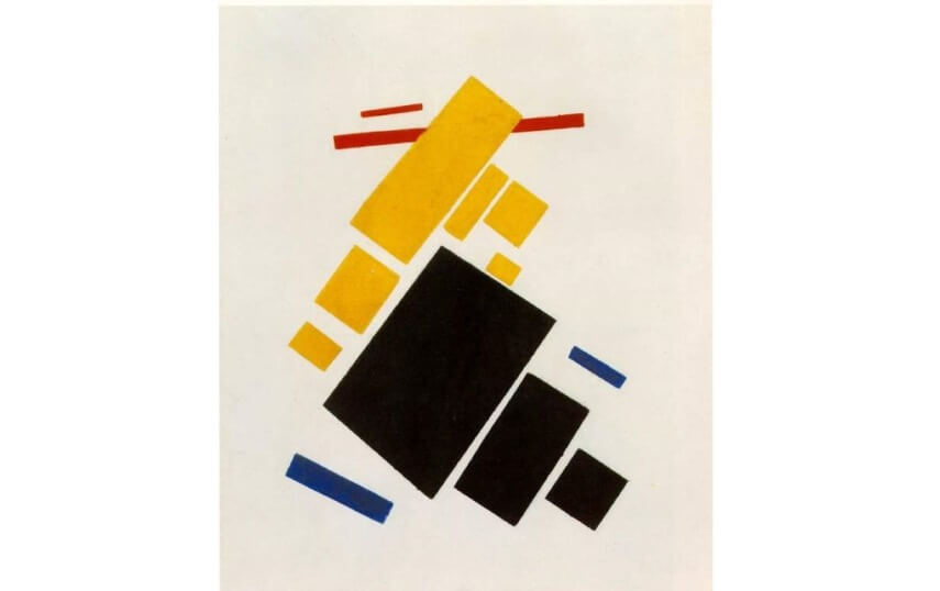 abstract art painting by kazimir malevich Suprematist Composition Airplane Flying painting