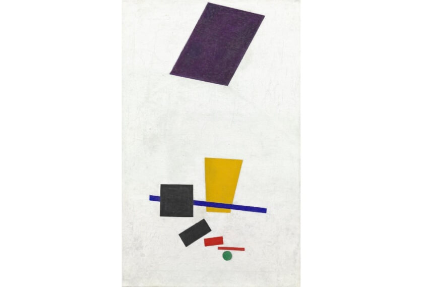 modern arts by world famous russian artist kazimir malevich who died in 1935