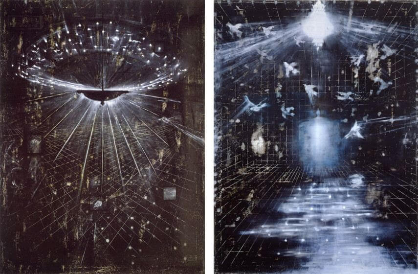 exhibitions of ross bleckner artworks at various museums mary boone gallery in new york city april 2016