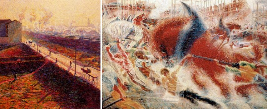 the art of futurism by italian artist umberto boccioni at new york museum of modern art