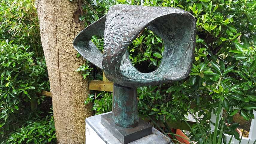 exhibition by artist barbara hepworth who was born in 1903 in wakefield and died 1975 in st ives