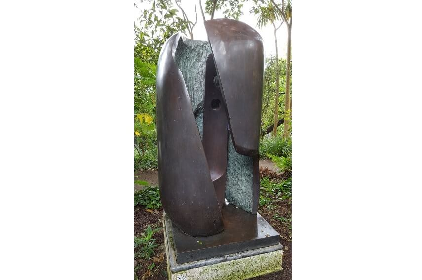 modern landscape by british artist barbara hepworth who was born in 1903 in wakefield and died 1975 in st ives