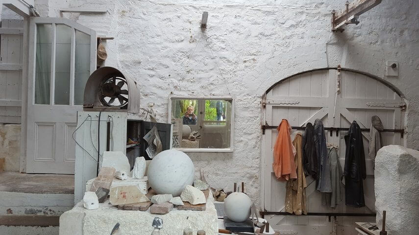 landscape paintings and sculptures by british artist barbara hepworth in st ives