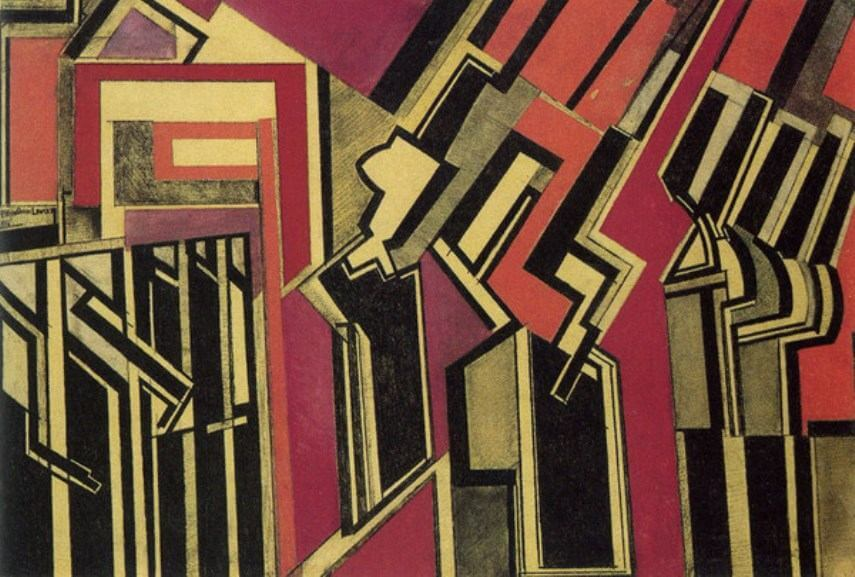 futurism artists wyndham lewis and gino severini