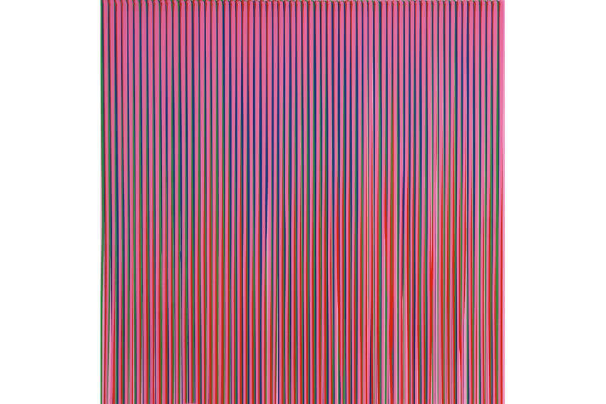 work by abstract painter Ian Davenport on view in london gallery and other galleries