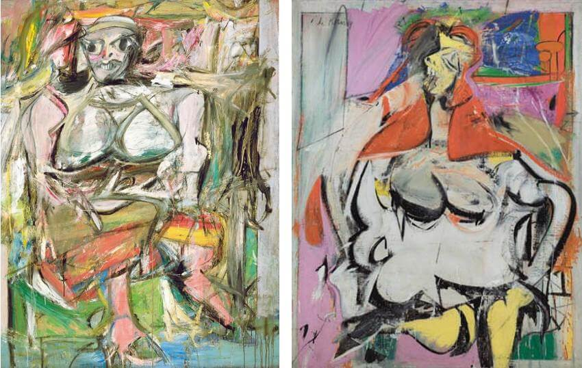 willem de kooning abstract portrait paintings