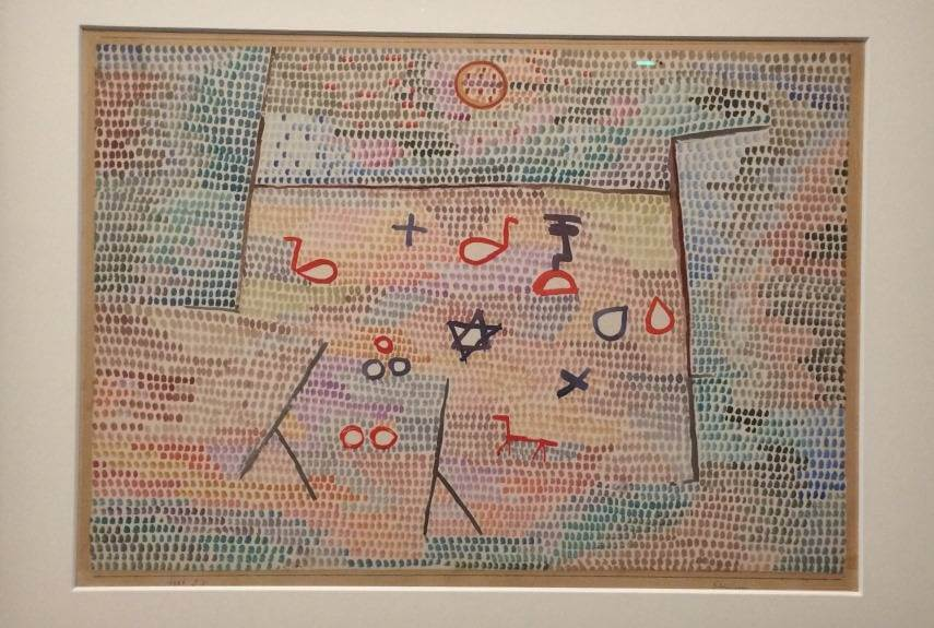color modern german new museum century watercolor 1933 klee paul art abstract life 1922 bauhaus