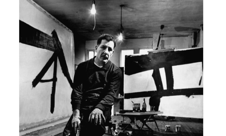 artist franz kline was born in 1910 in pennsylvania and died in 1962 in new york