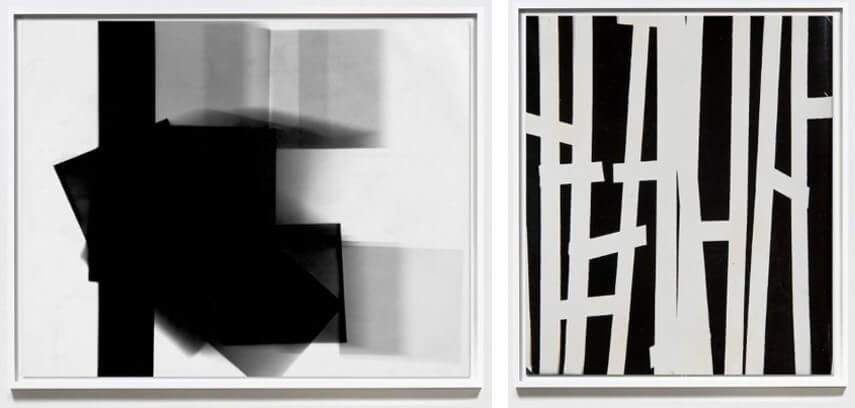 Two abstract photographic prints by William Klein