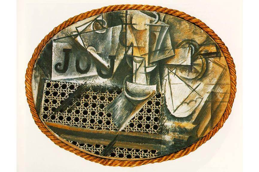 pablo picasso guittar bottle 1914
