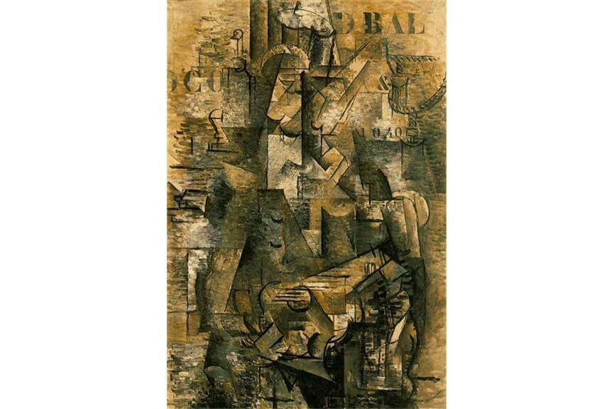 modern art georges braque the portuguese and pablo picasso the guitar bottle 1914
