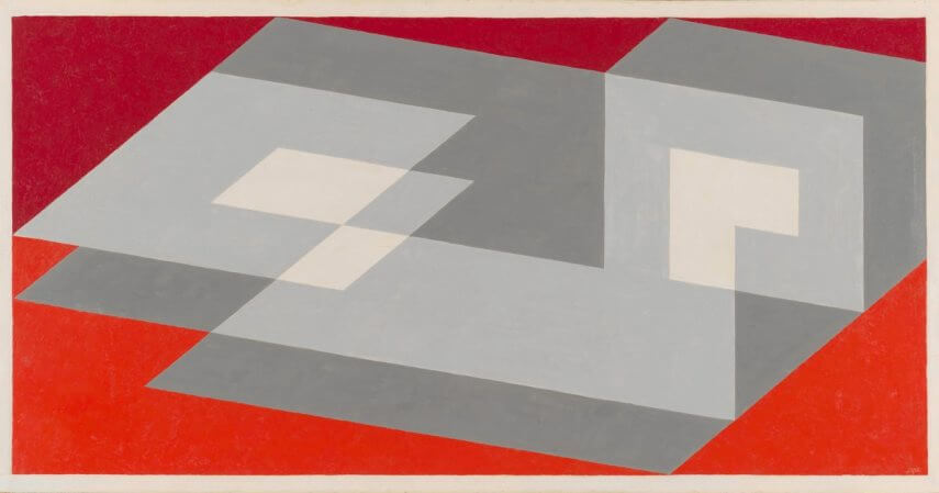 new print work by josef albers an american artist and teacher at black mountain college