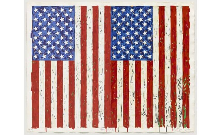 pop art by jasper johns born in 1930