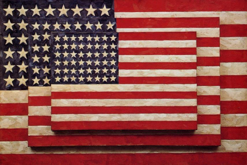 jasper johns art at new york museum and gallery