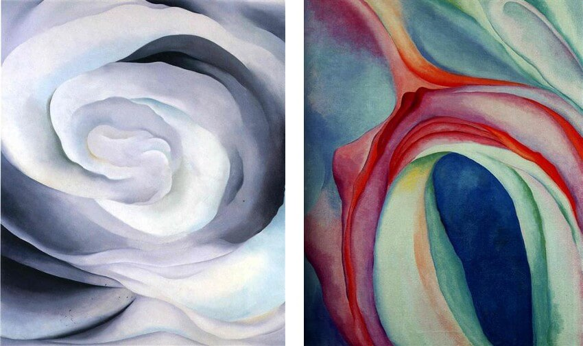 Abstraction White Rose by American artist Georgia O Keeffe