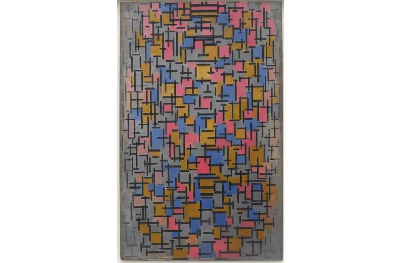 composition in red blue and yellow and broadway boogie woogie by piet mondrian in new york city