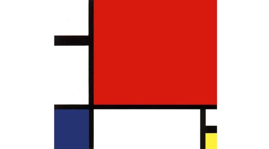 Piet Mondrian Composition II in Red Blue and Yellow