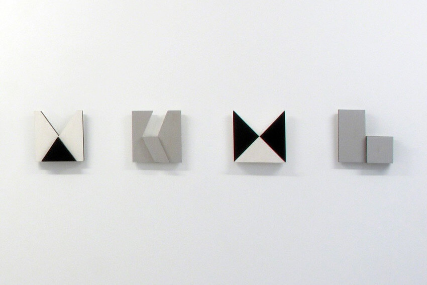 museum exhibition of later series of works and installation by lygia pape from rio de janeiro
