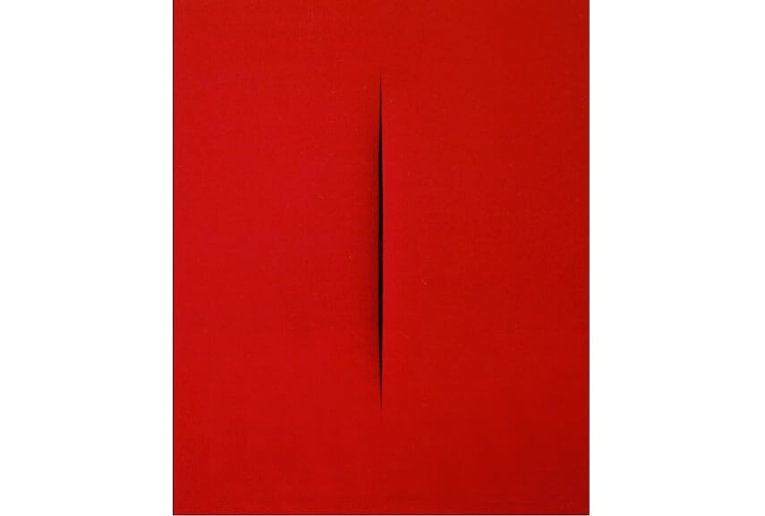 concetto spaziale attese from 1965 is one of most iconic works by italian artis lucio fontana