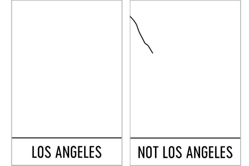 los angeles abstract map