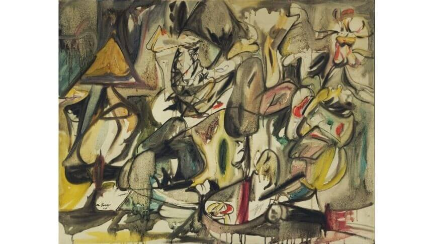 The Leaf of the Artichoke Is an Owl by Arshile Gorky