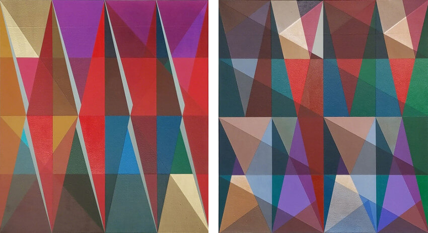 painting and new glass works by jeffrey gibson artist on view at museum and gallery