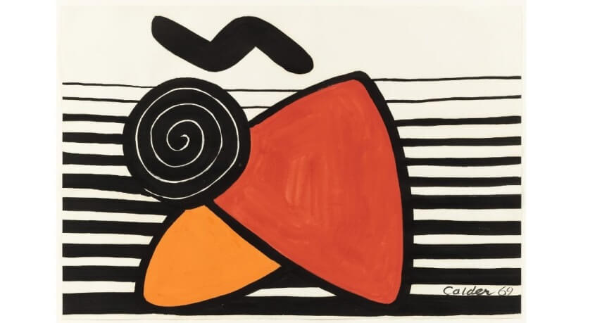 alexander calder gouache art paintings