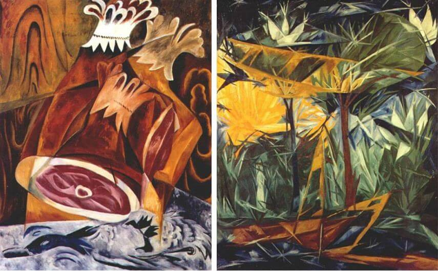 rayonism was founded by artist and designer natalia goncharova and mikhail larionov