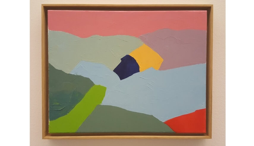 paintings by etel adnan a lebanese american artist and one of the most  famous arab american authors writing today