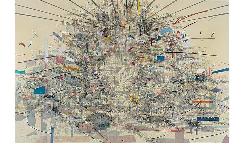 Julie Mehretu art at museum and gallery in denver and new york