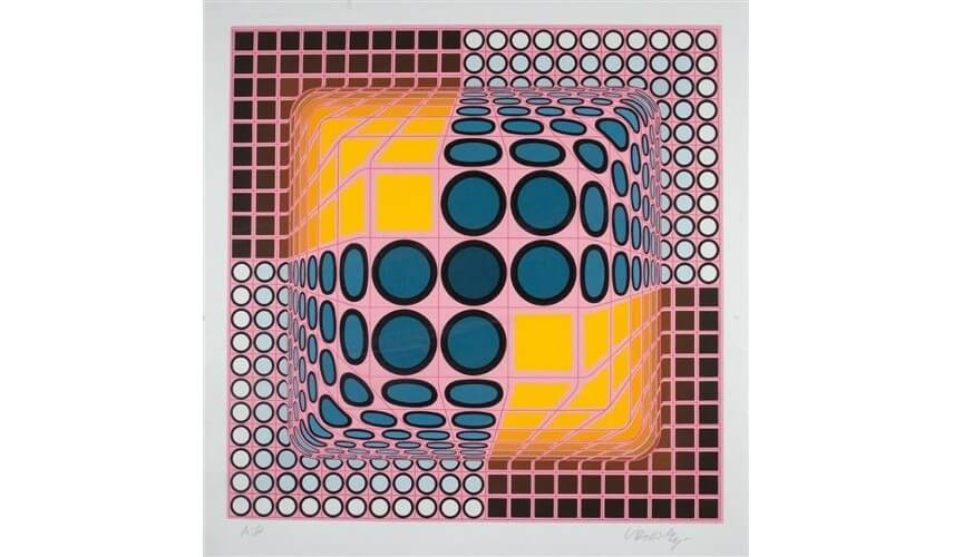 Victor Vasarely untitled painting