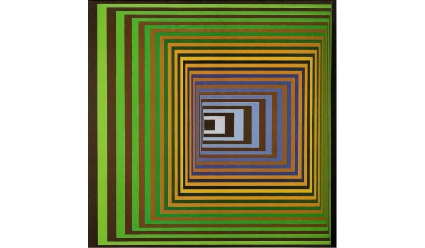 op art painting and design
