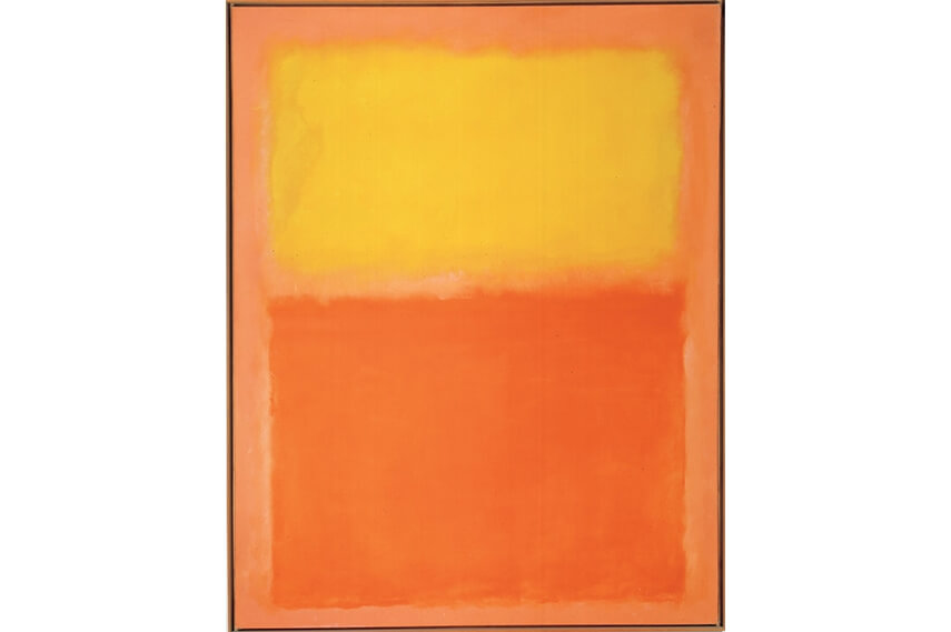 large art painting work by american artist mark rothko
