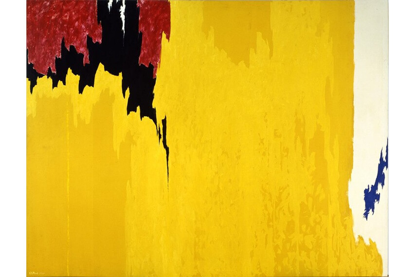 modern large art painting by artist clyfford still and mark rothko