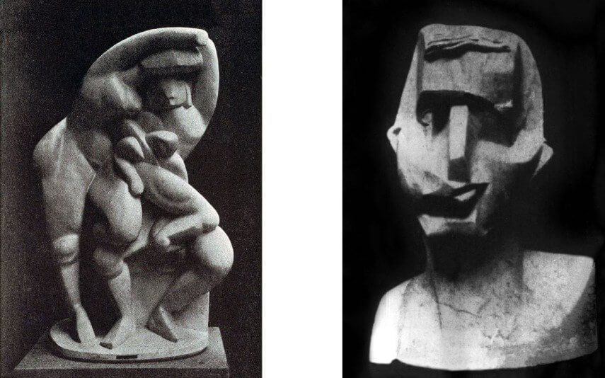 pablo picasso work and other early modern 20th century abstract art painting and sculptures at museum in paris
