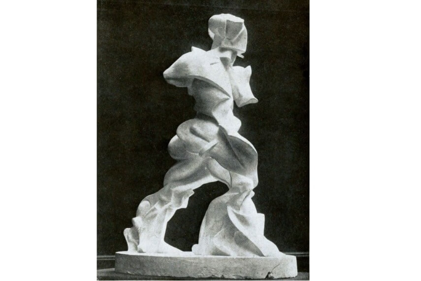 Umberto Boccioni Expansion of Muscles in Action sculpture