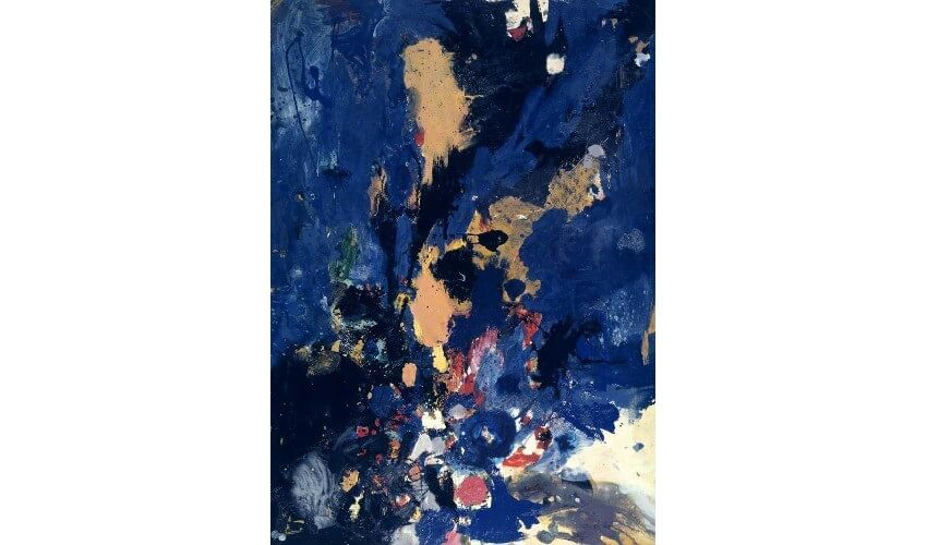 Work by British artist and painter Gillian Ayres